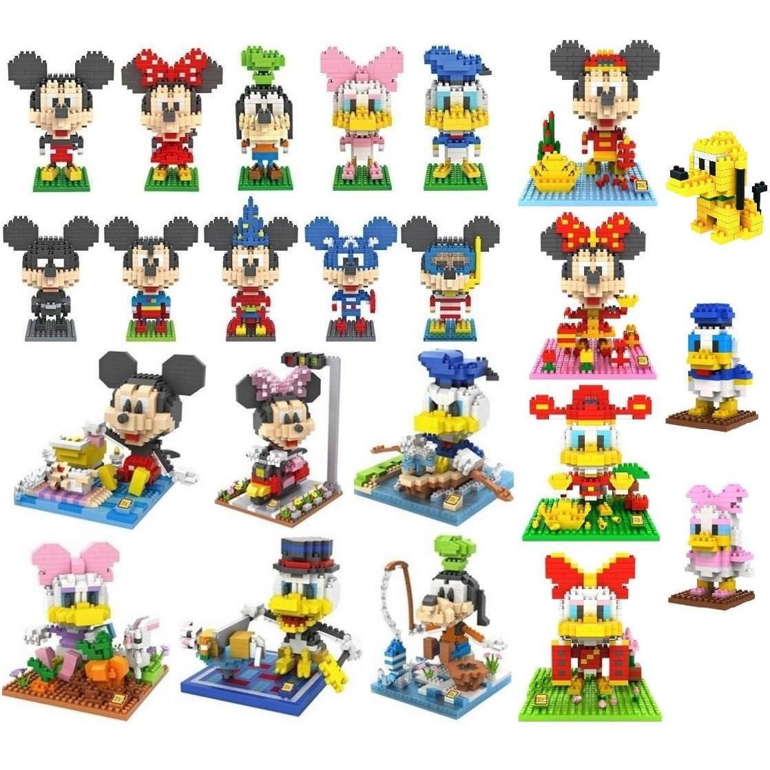 Disney building blocks clipart banner library download Disney Mickey/Donald Duck/Goofy/Pluto/Etc Loz Diamond Building ... banner library download