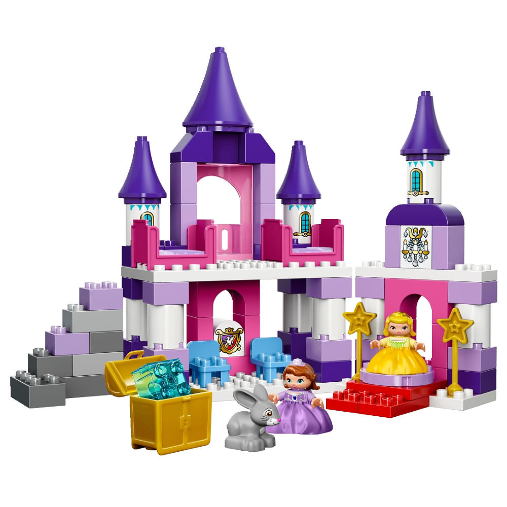 Disney building blocks clipart graphic royalty free stock LEGO DUPLO Disney Jr. Sofia the First Royal Castle (10595) - Toys