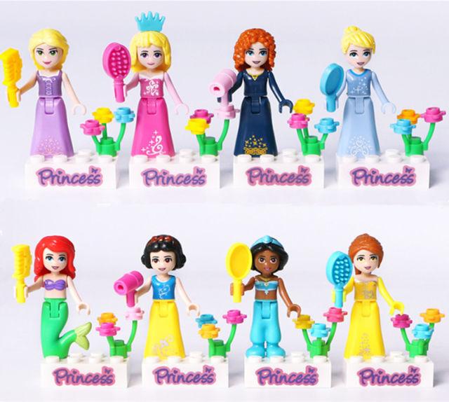 Disney building blocks clipart clip art royalty free stock 8pcs Disney Princess Mini Building Blocks Snow White Cinderella ... clip art royalty free stock