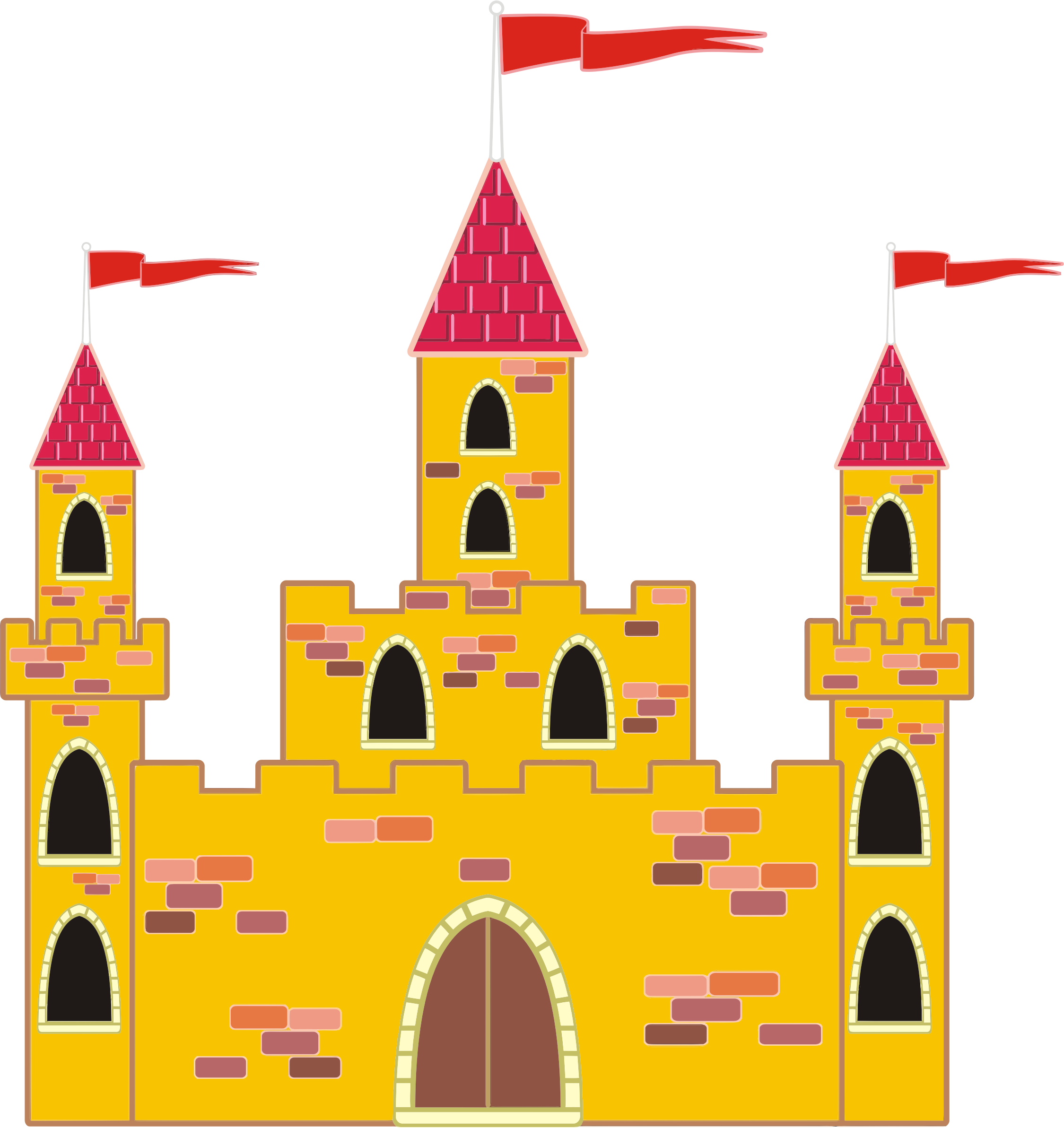 Disney building clipart png black and white download Free Clip art of Disney Castle Clipart #195 Best Disney Castle ... png black and white download