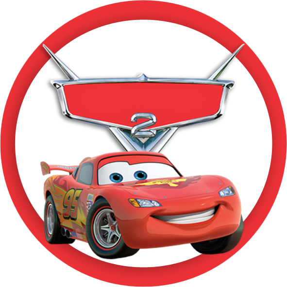 Disney car clipart. Adesivo redondo x png