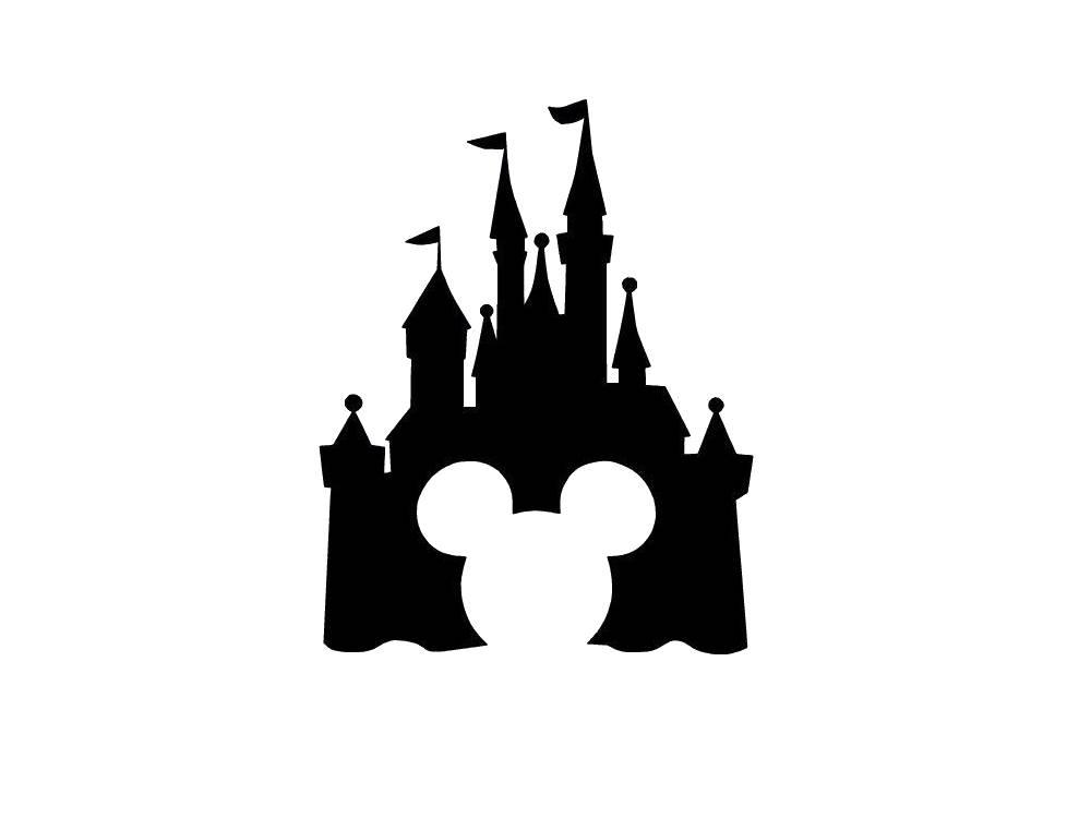 Disney castle silhouette clipart svg free stock Castle Silhouette | Free download best Castle Silhouette on ... svg free stock