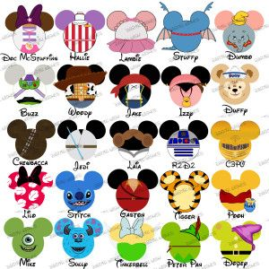Disney character clipart freeuse library My first disney trip disney characters clipart free - ClipartFest freeuse library