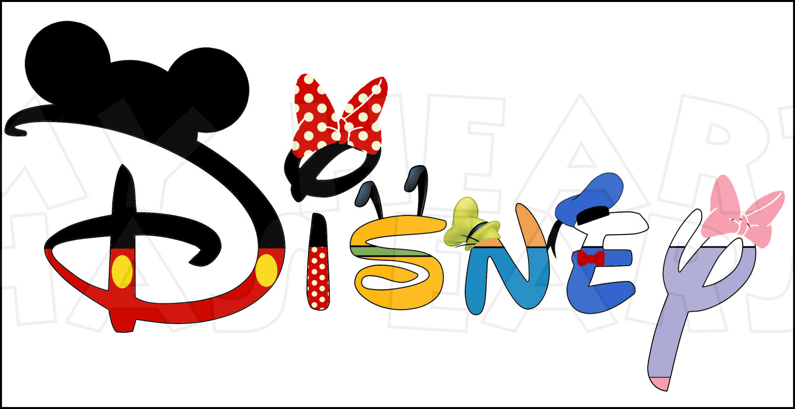 Disney character digital font clipart picture black and white library Disney character font clipart - ClipartFest picture black and white library