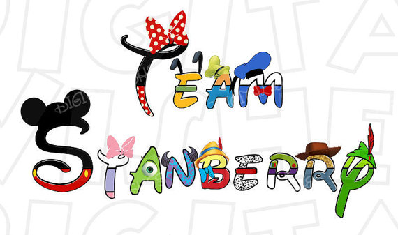 Disney character digital font clipart image transparent download ANY NAME or Phrase in Disney character text font Digital Iron image transparent download