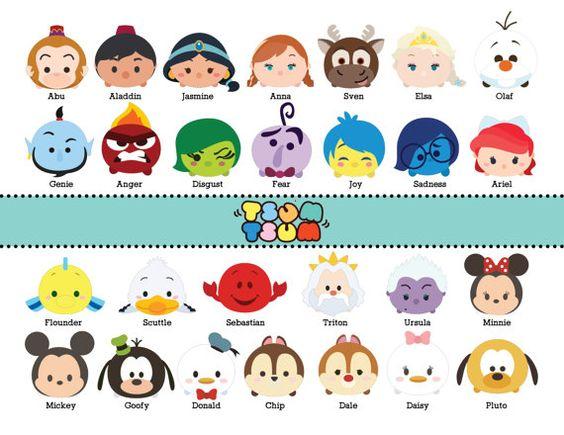 Disney character digital font clipart clipart download DISNEY TSUM TSUM. 65 Images at 300dpi Resolution Digital Clipart ... clipart download