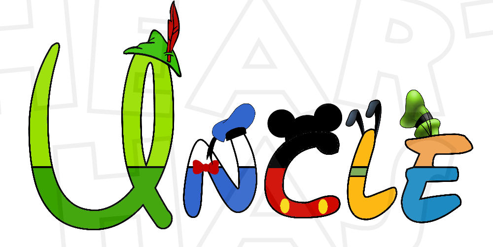 Disney character digital font clipart royalty free Disney character text digital clipart - ClipartFest royalty free