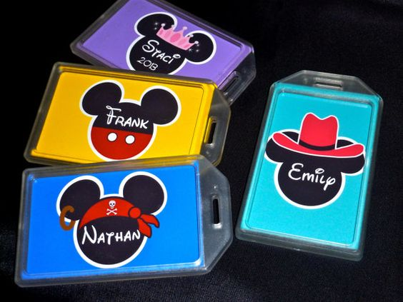 Disney character luggage tags clipart picture black and white download Disney character luggage tags clipart - ClipartFest picture black and white download