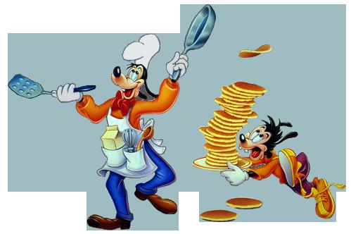 Disney character making pancakes clipart vector stock Goof Troop Clipart vector stock