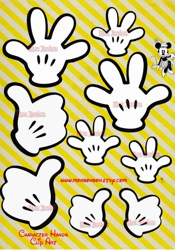 Digital mickey hands clip. Disney character making pancakes clipart