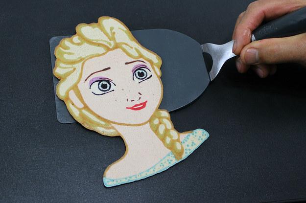This pop culture pancake. Disney character making pancakes clipart