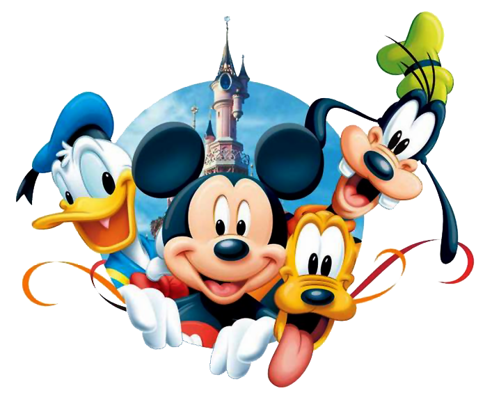 Disney character safari clipart image black and white library Mickey & Pals Clipart image black and white library