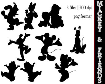 Clipartfest clipart classic . Disney character silhouette clip art