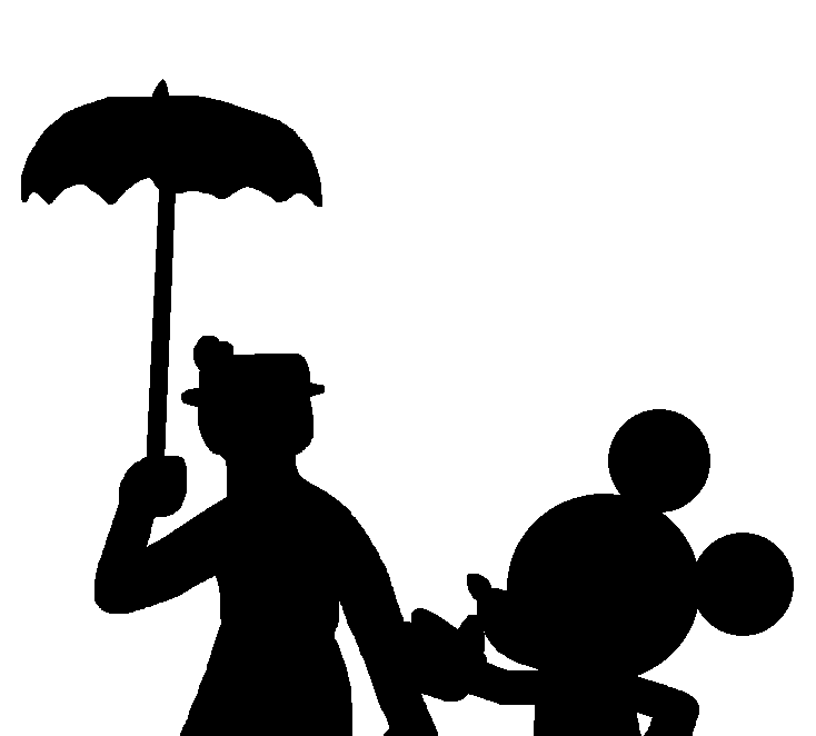 Disney character silhouette clip art image black and white stock Disney character silhouette clip art - ClipartFest image black and white stock