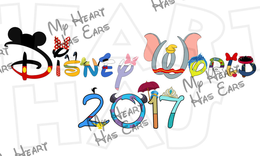 Disney character text digital clipart free Disney World 2017 in character text INSTANT DOWNLOAD digital clip ... free
