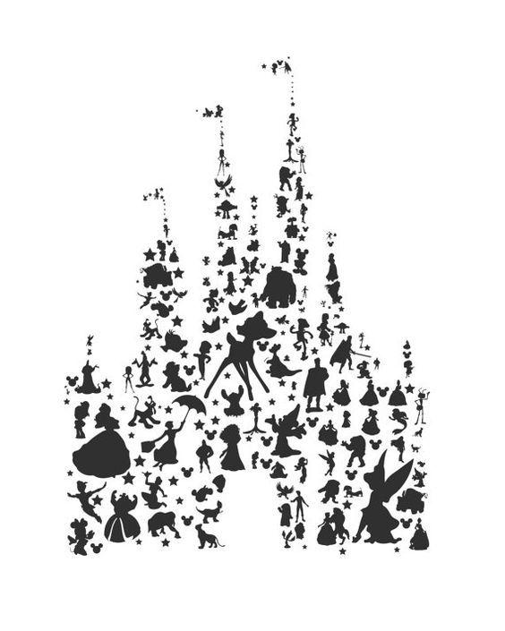 Disney character tourist clipart. Clipartfest silhouettes