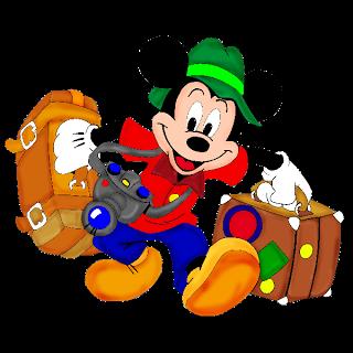 Disney character tourist clipart