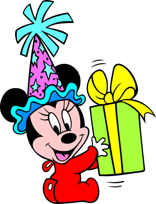 Disney character with mickey bar clipart. Birthday present images best