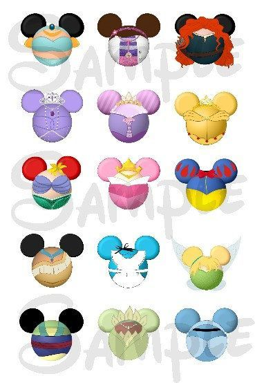 Disney character with mickey bar clipart svg freeuse download 1000+ images about Character inspired Mickey Mouse heads on ... svg freeuse download