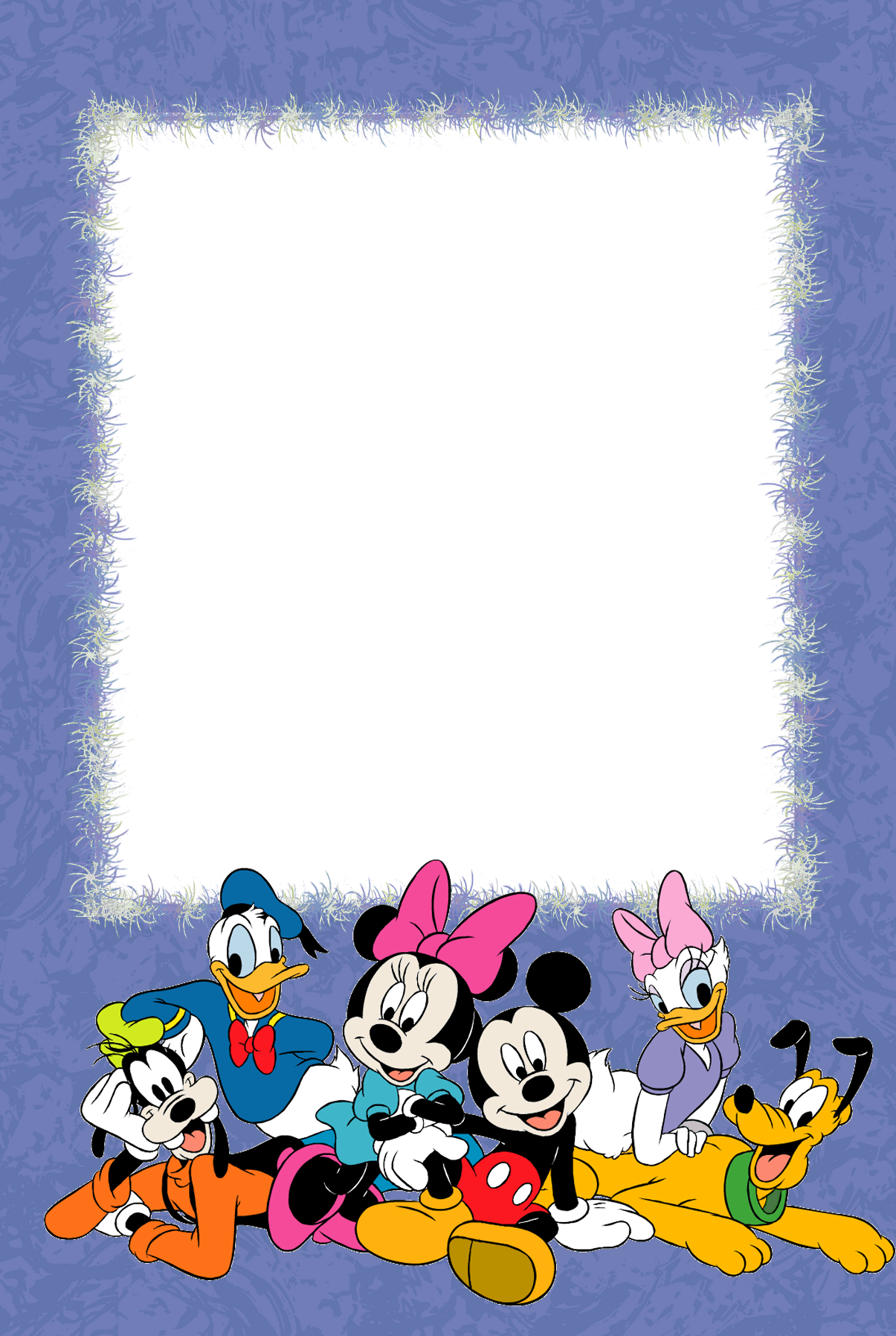 Disney character with suitcase clipart picture free stock Purple PNG Kids Photo Frame with with Disney Characters | disney ... picture free stock