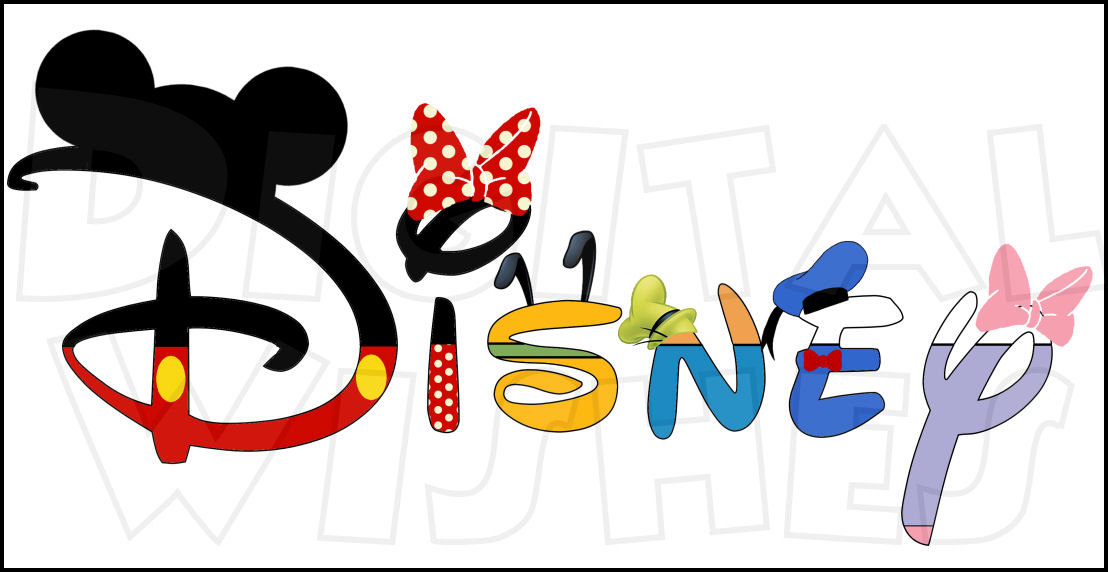 Disney character with suitcase clipart jpg library download Disney character digital font clipart - ClipartFox jpg library download