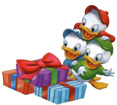 Disney christmas huey lewy and dewy clipart