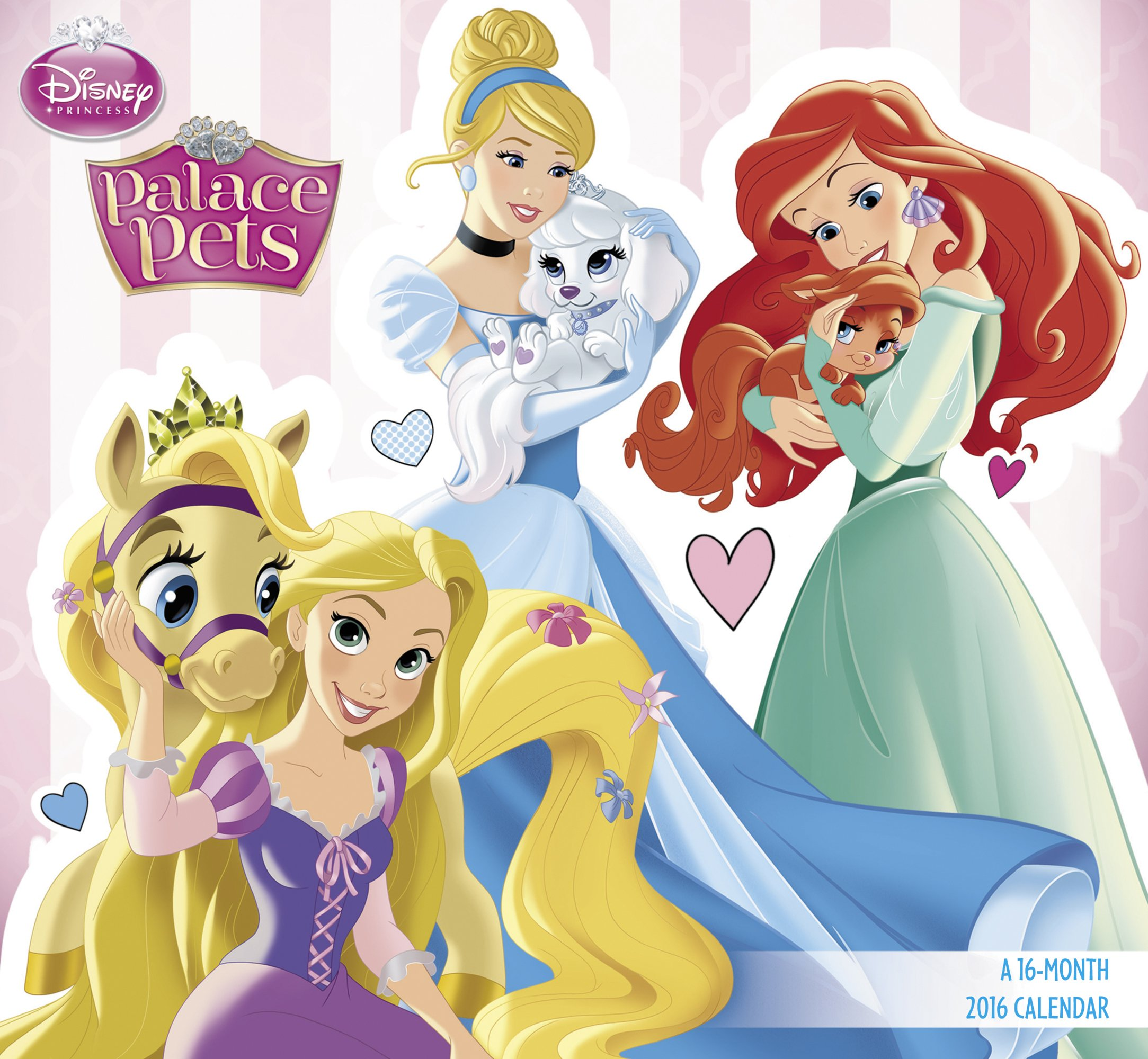 Disney clipart calendar 2016. Princess palace pets amazon