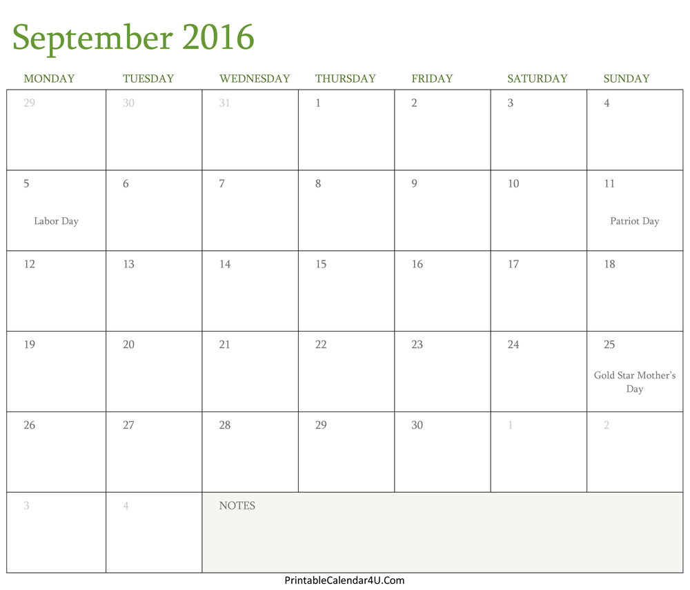 Disney clipart calendar 2016. September clipartfest