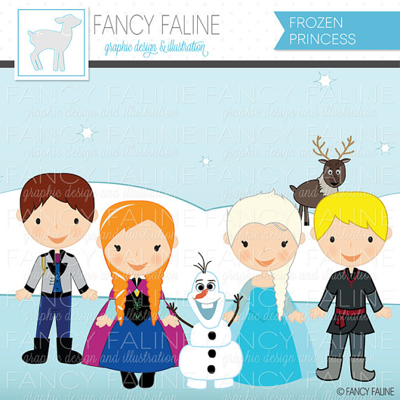Disney clipart for commercial use jpg royalty free library Frozen Snow Princess Cute Digital Clipart - Commercial Use OK ... jpg royalty free library