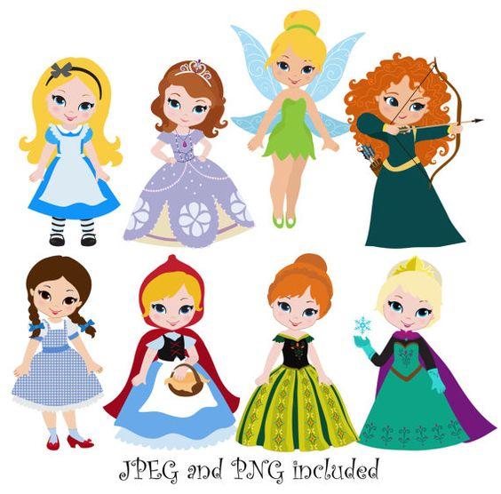 Disney clipart for commercial use vector freeuse stock Princess 04 Digital Clipart / Princess Clip Art / Fairytale ... vector freeuse stock