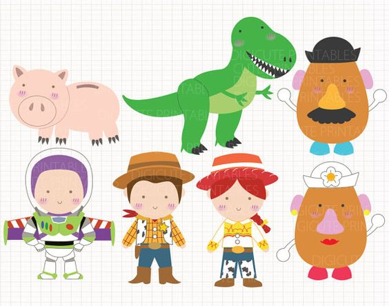 Disney clipart for commercial use svg royalty free download Disney Inspired Toy Story Digital CLIP ARTS personal and ... svg royalty free download