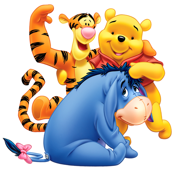 Disney clipart pooh bee halloween banner freeuse library Winnie the Pooh Eeyore and Tiger Transparent PNG Clip Art Image ... banner freeuse library