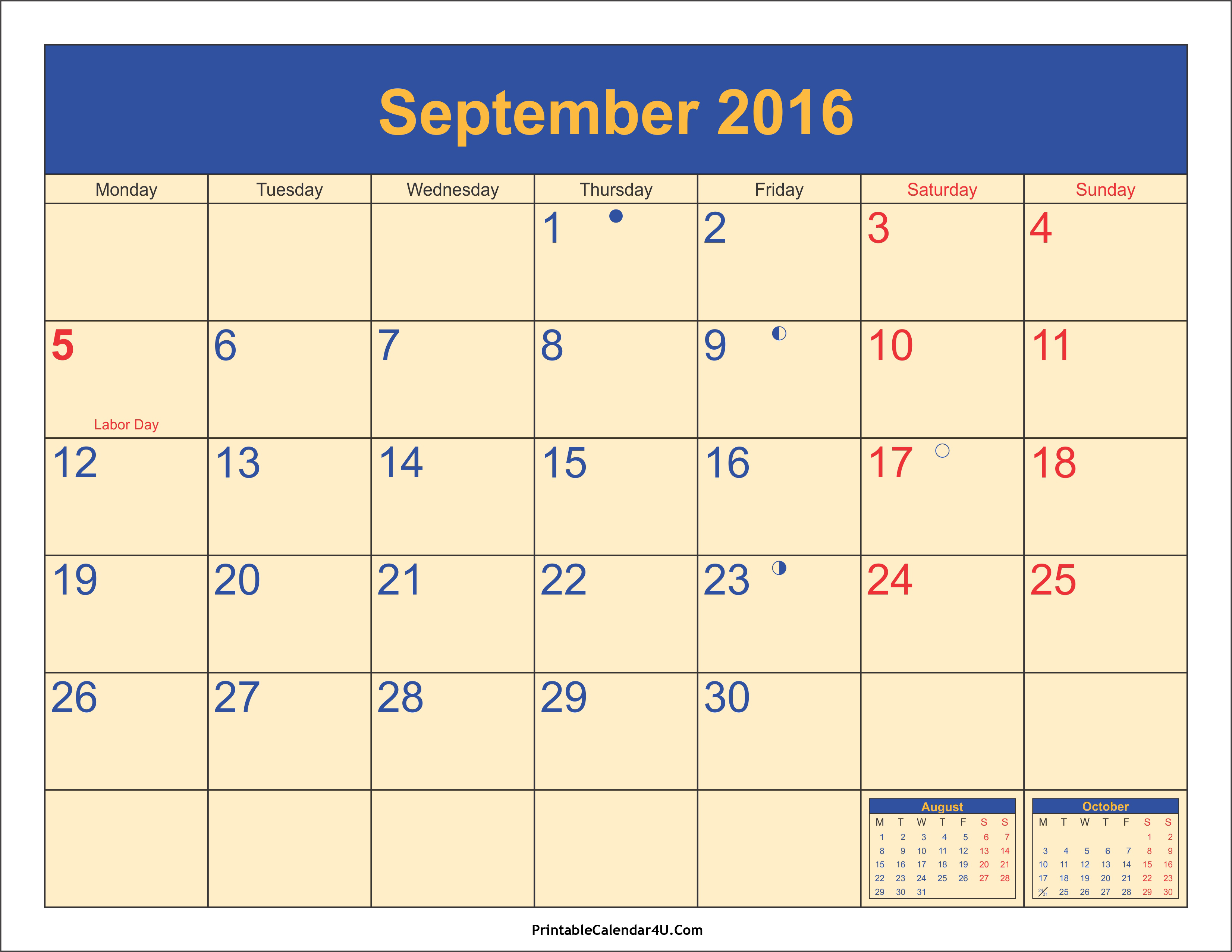 Disney clipart september calendar 2016 picture 17 Best ideas about 2016 Calendar With Holidays on Pinterest ... picture