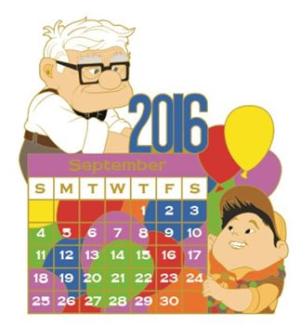 Disney clipart september calendar 2016 image library September 2016 Calendar Pin - Disney Pins Blog image library