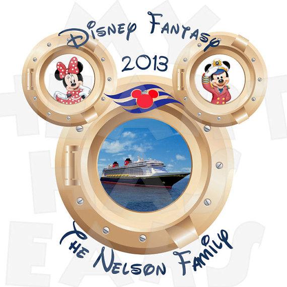 Disney fantasy clipart clip free download Disney Fantasy Cruise portholes Family vacation digital clip art ... clip free download