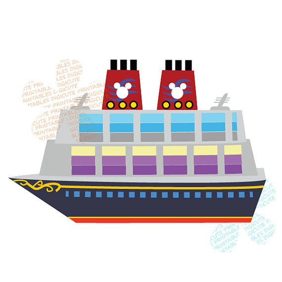 Disney fantasy clipart graphic free stock Items Similar To Disney Cruise Ship Digital Clip Art Personal And ... graphic free stock