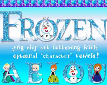 Disney font character clipart graphic freeuse stock Frozen font | Etsy graphic freeuse stock