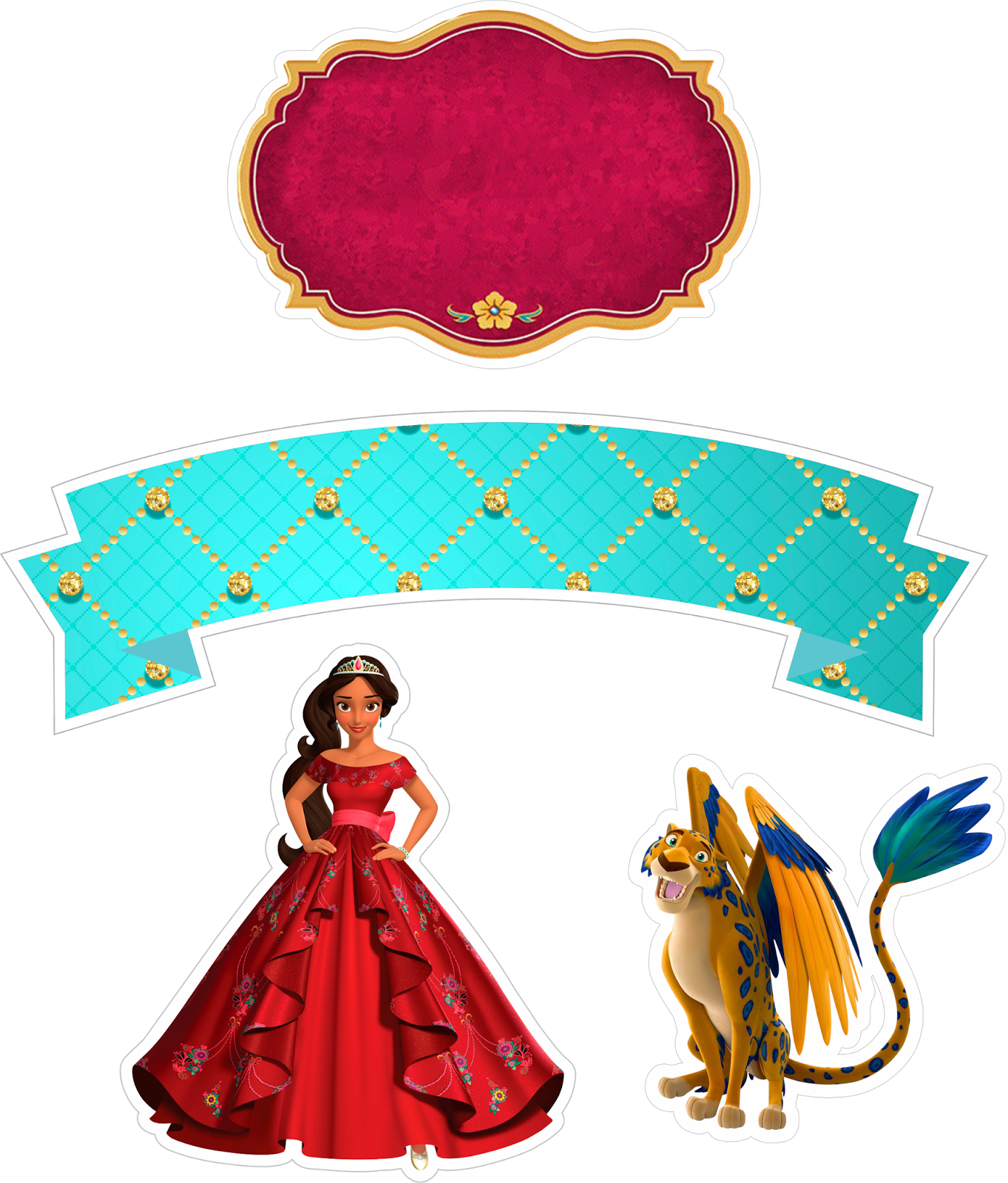 Library Of Elena Of Avalor Flower Banner Freeuse Png Files