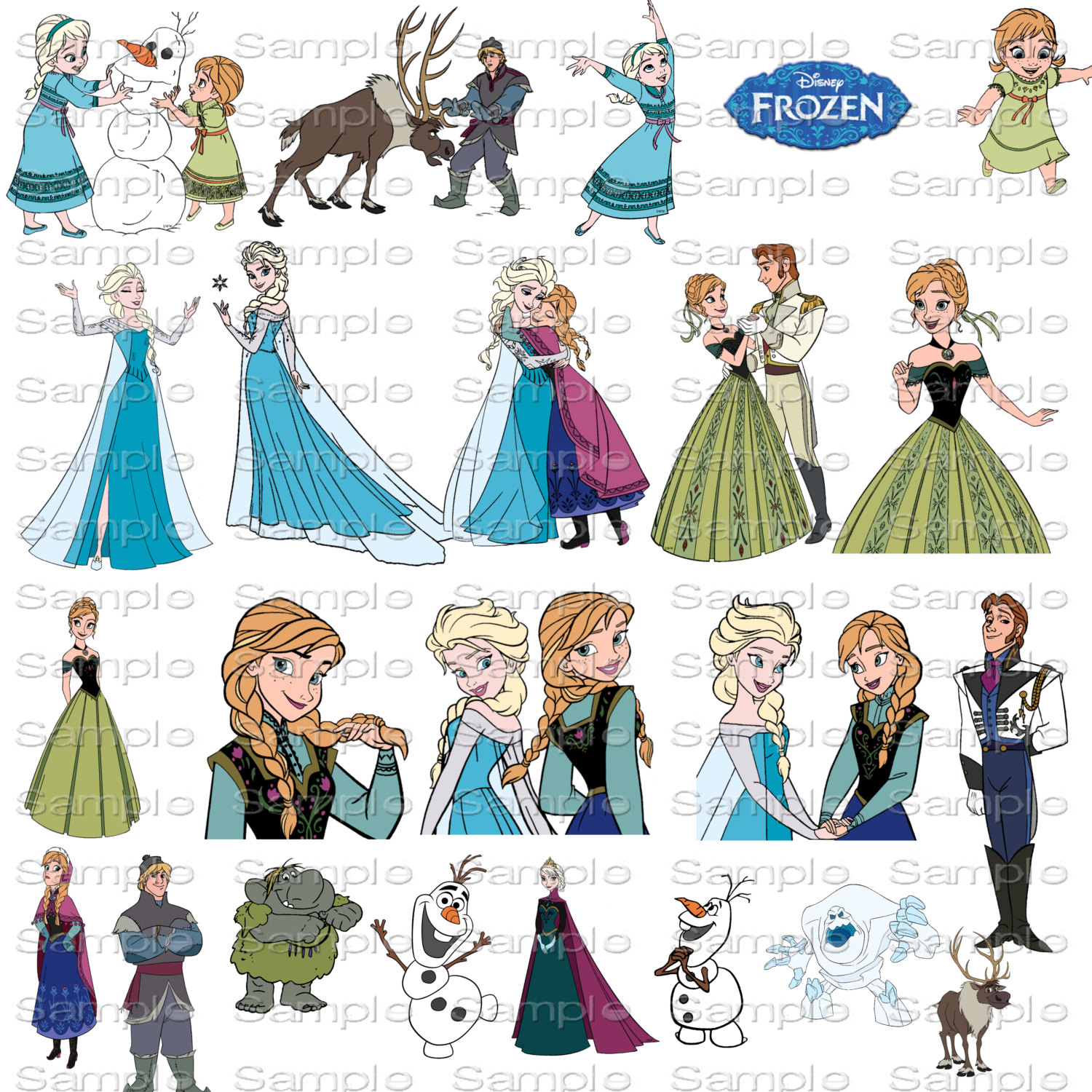 Disney frozen clipart character images transparent library Frozen Character Clipart - Clipart Kid transparent library