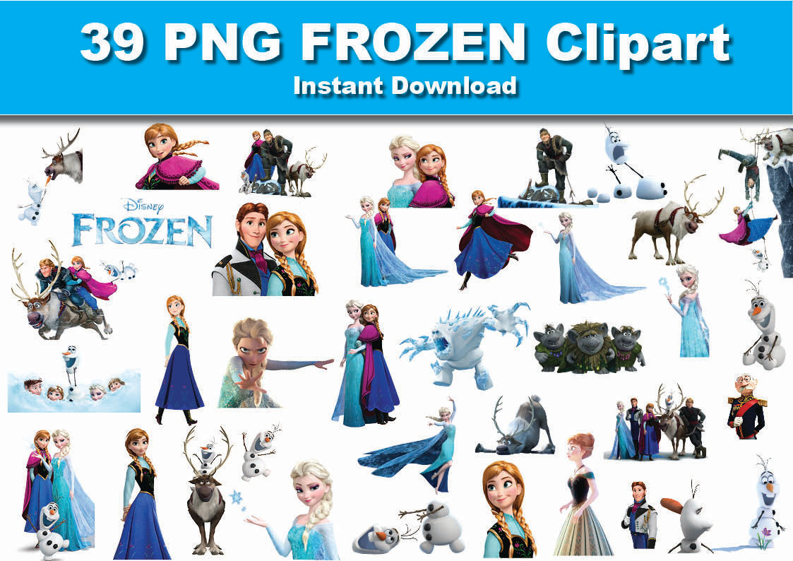 Disney frozen clipart character images clip art black and white download Disney frozen characters clipart - ClipartFest clip art black and white download