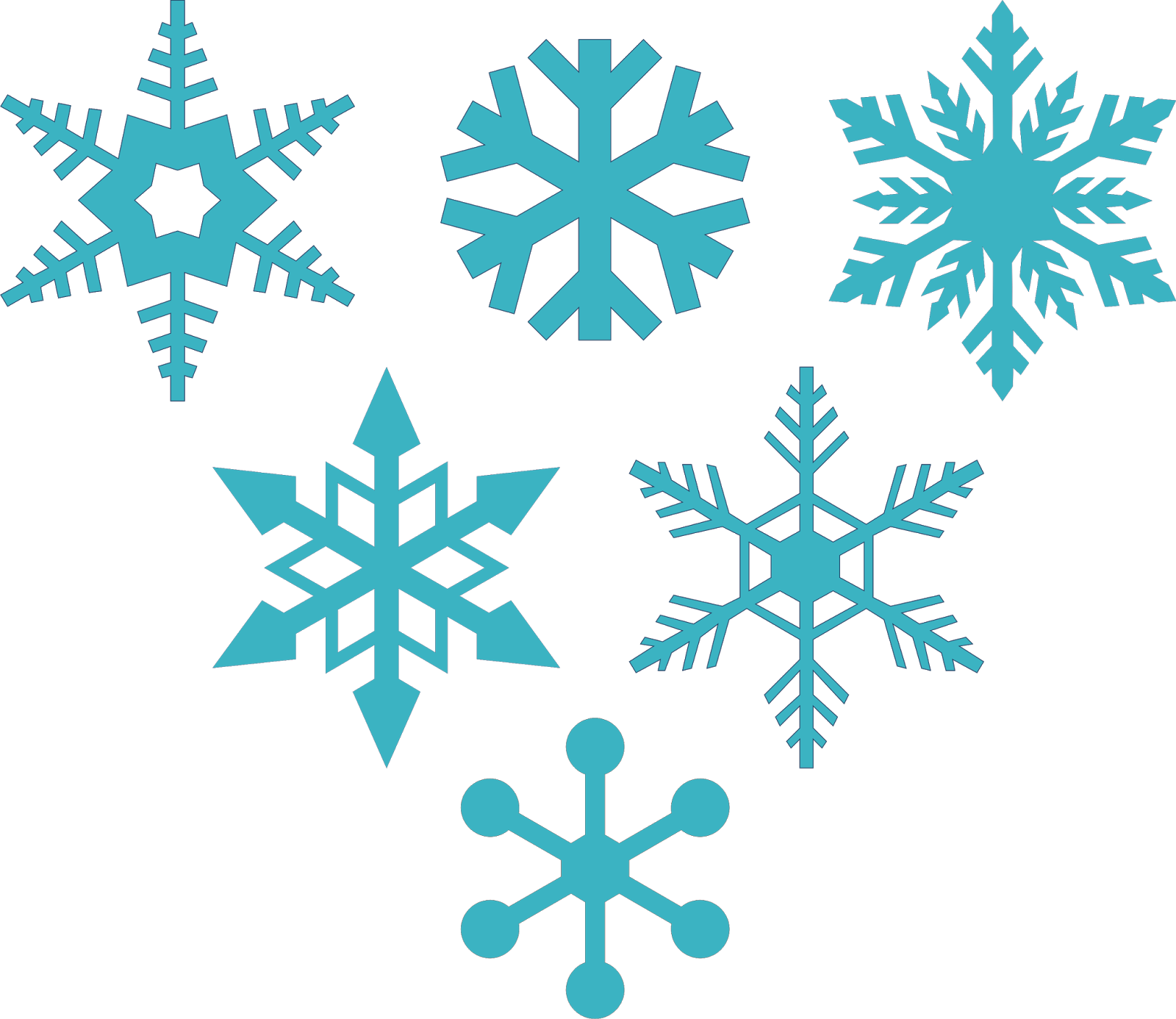 Snowflake clipart silhouette svg black and white library Free Snowflake Images (65+) svg black and white library