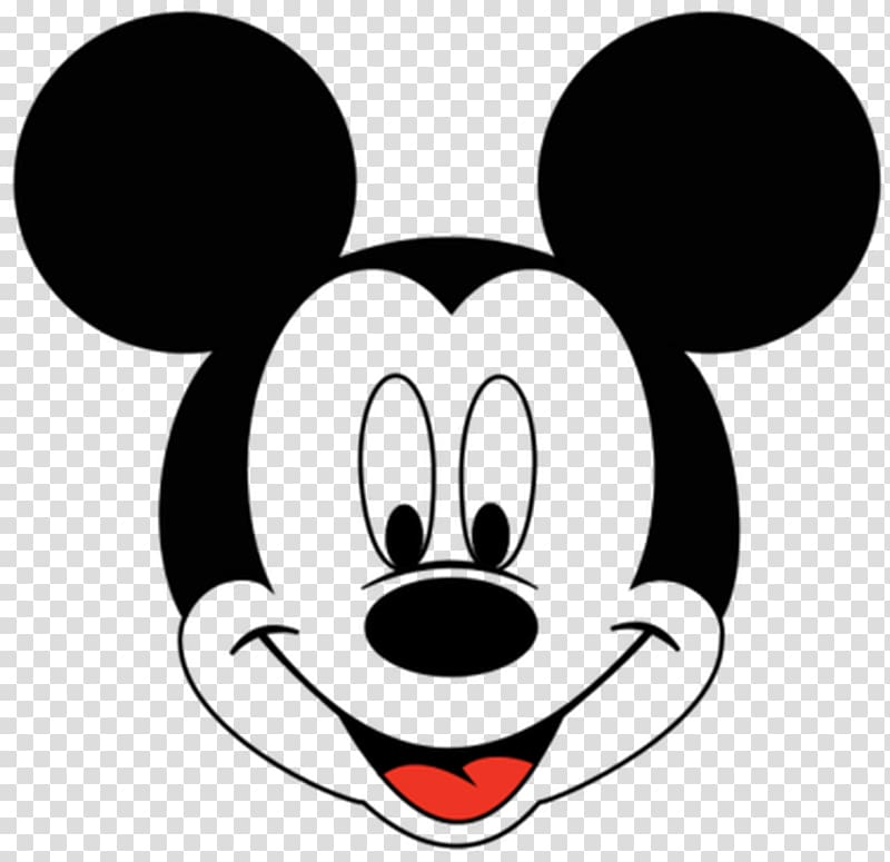 Disney goofy black and white clipart head banner black and white Illustration of Mickey Mouse head, Mickey Mouse Minnie Mouse ... banner black and white