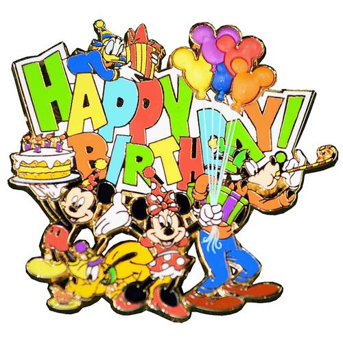 Disney happy birthday clipart graphic library stock Disney Happy Birthday Pin - Mickey and Friends graphic library stock