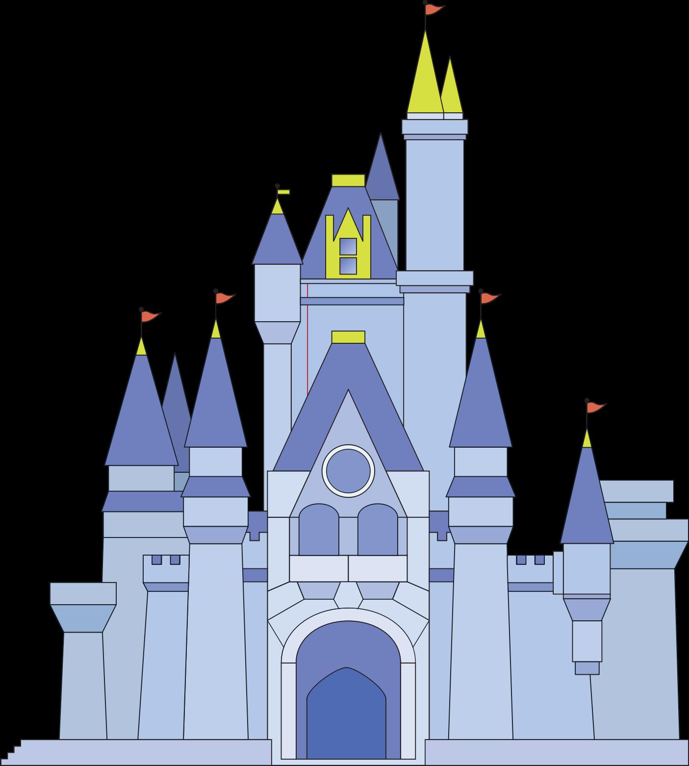 Disney kingdom clipart clip free Clipart - Magic Kingdom Castle (Cinderella) clip free