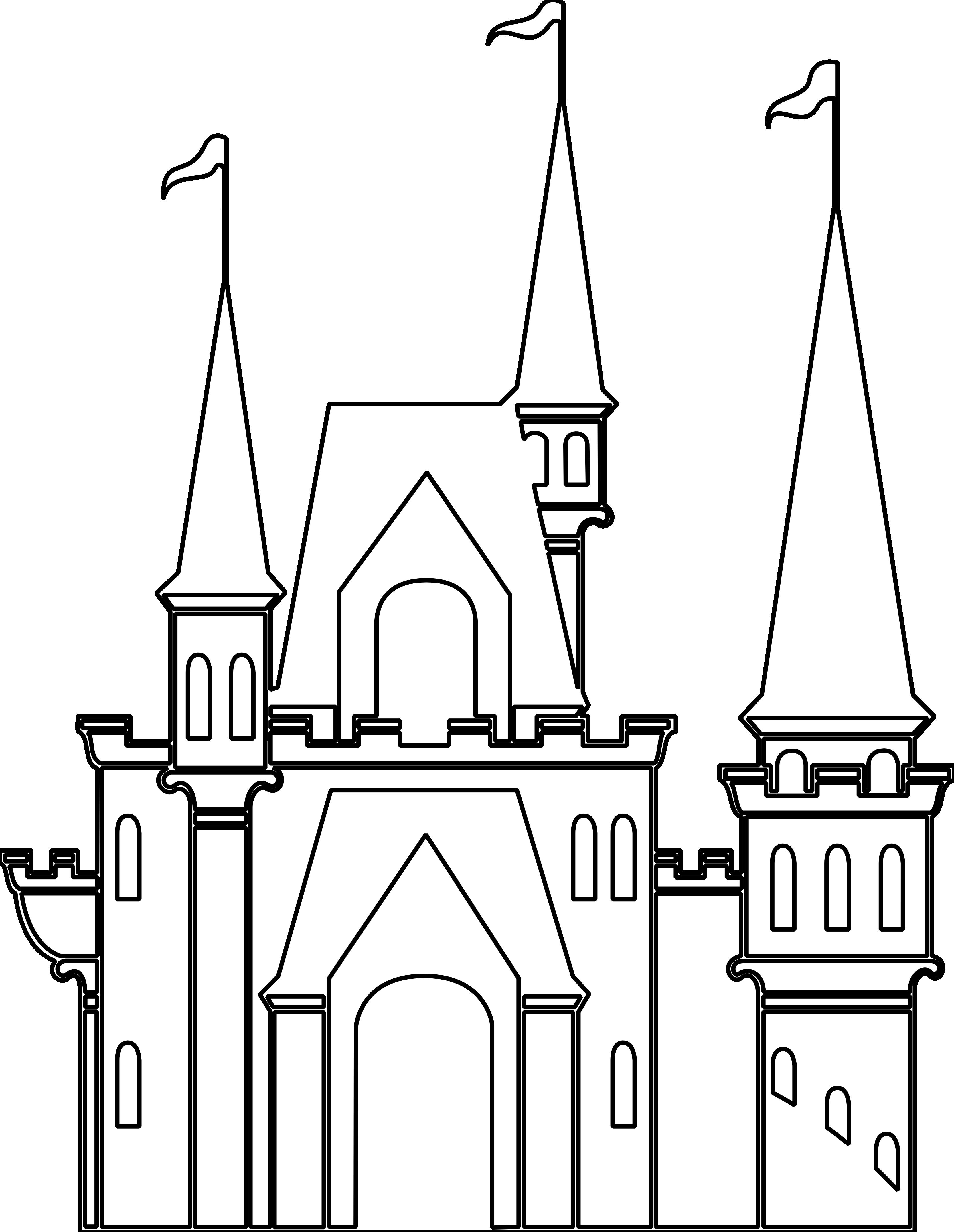 Disney kingdom clipart simple clip art freeuse download Disney castle clipart simple - ClipartFest clip art freeuse download