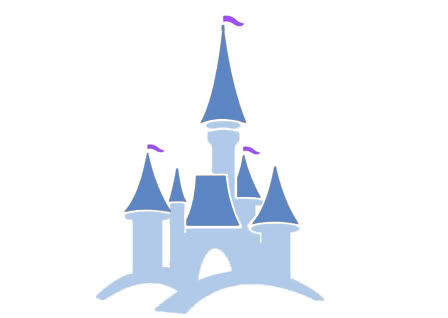 Disney kingdom clipart simple graphic Disney castle clipart simple - ClipartFest graphic