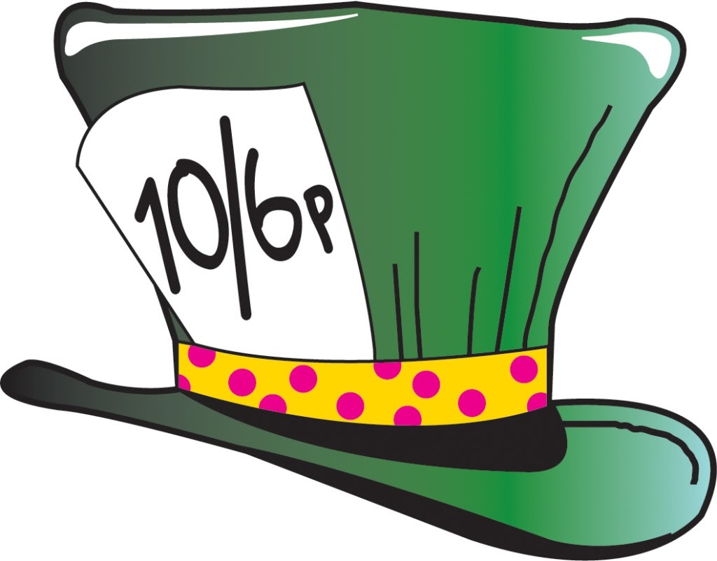 Disney mad hatter black and white clipart. Hat clipartfest cliparts