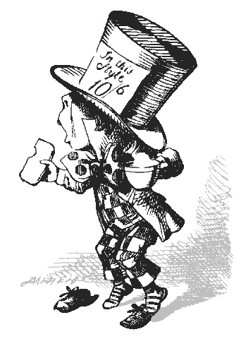 Disney mad hatter black and white clipart. Clipartfox embed