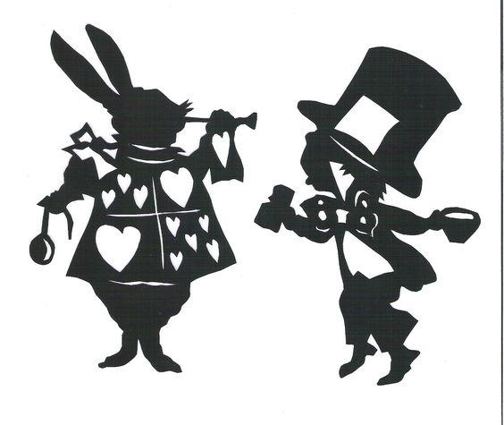 Disney mad hatter black and white clipart. Rabbit alice in wonderland