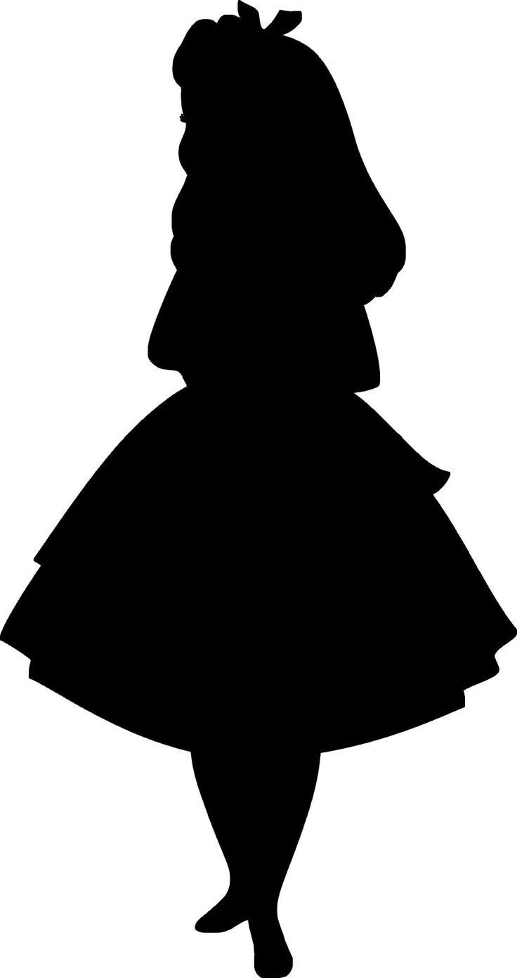 Alice in wonderland silhouette. Disney mad hatter black and white clipart